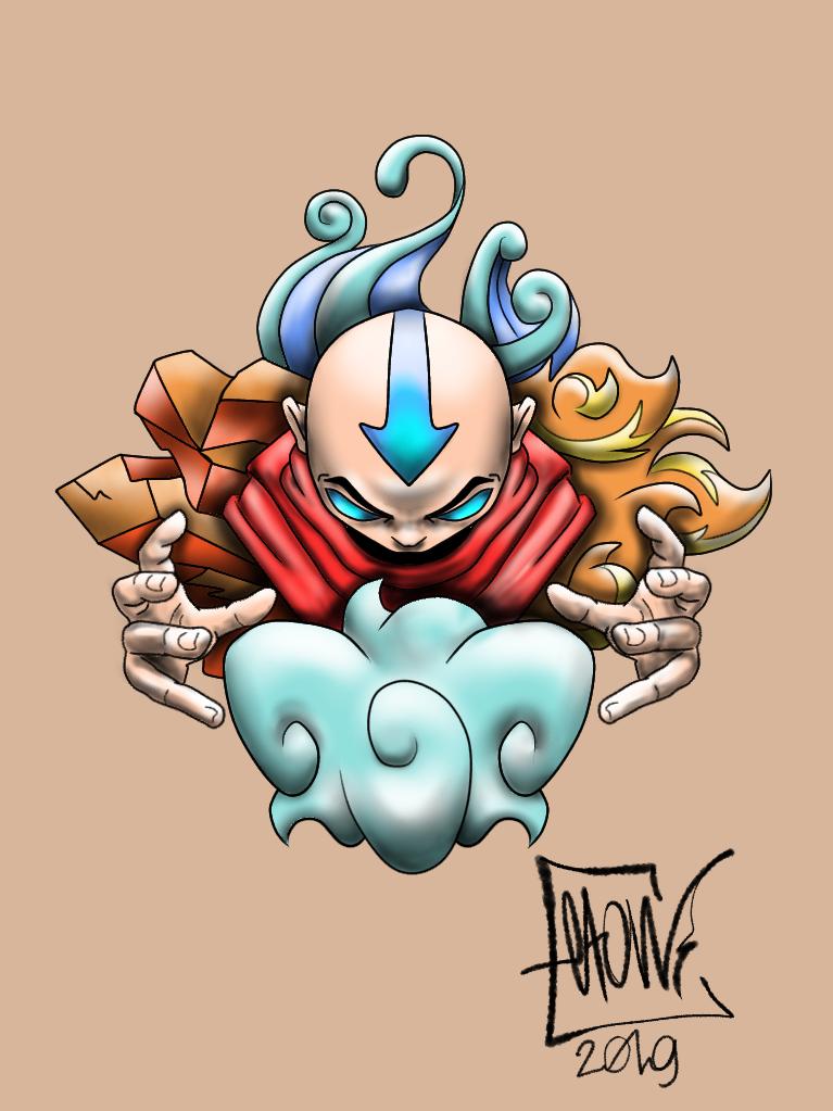 Avatar Illust of Elton cartoon illustration Avatar medibangpaint aang