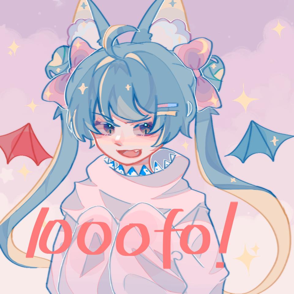 1000fo了!!!!! Illust of 桜庭花莓. medibangpaint twin_ponytails animal_ears girl