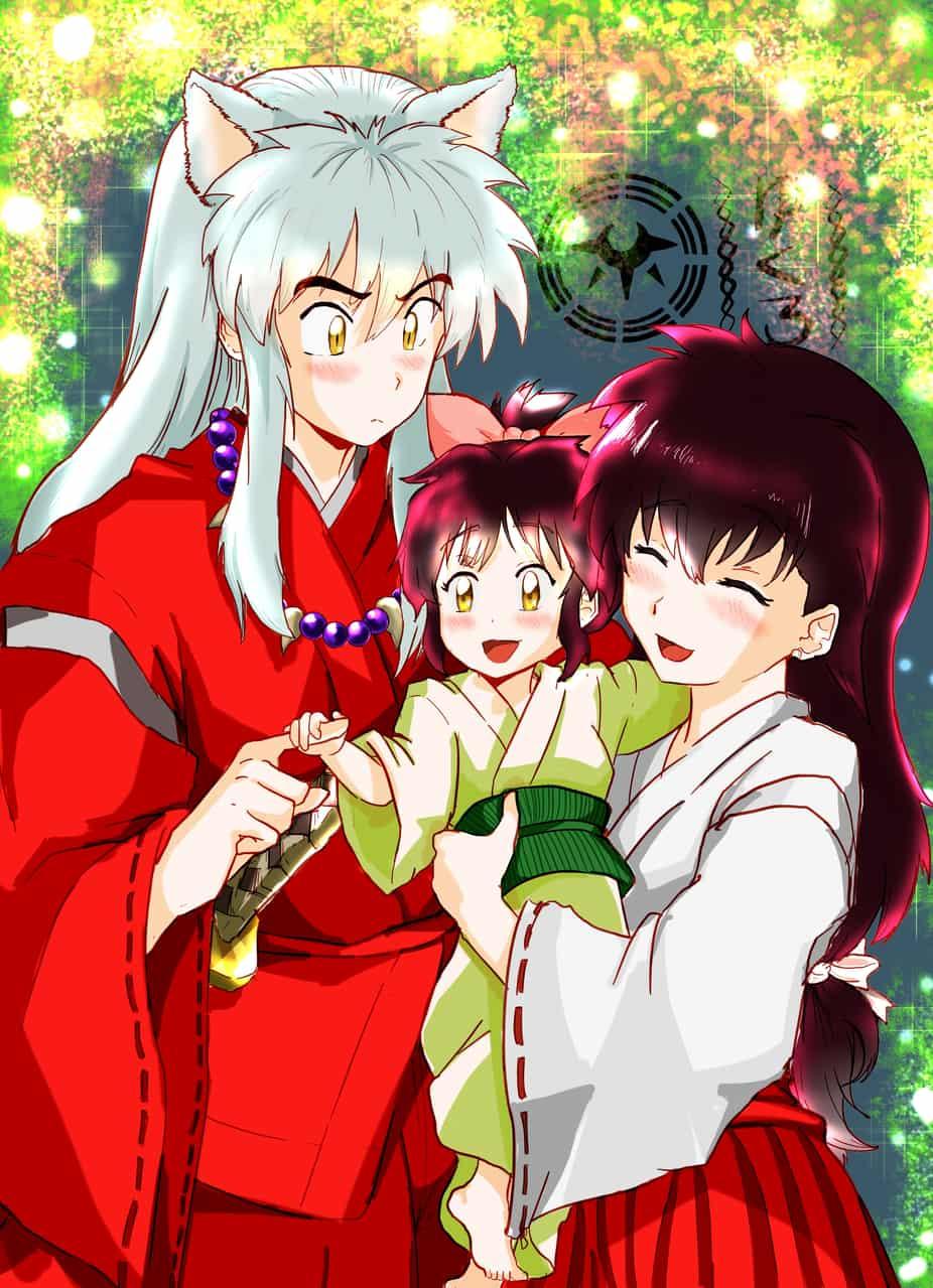 Inuyasha Familia Illust of byako (yukuro) ricardo valle Inuyasha anime 日暮かごめ kagomeinuyasha Family love Aome Kagome