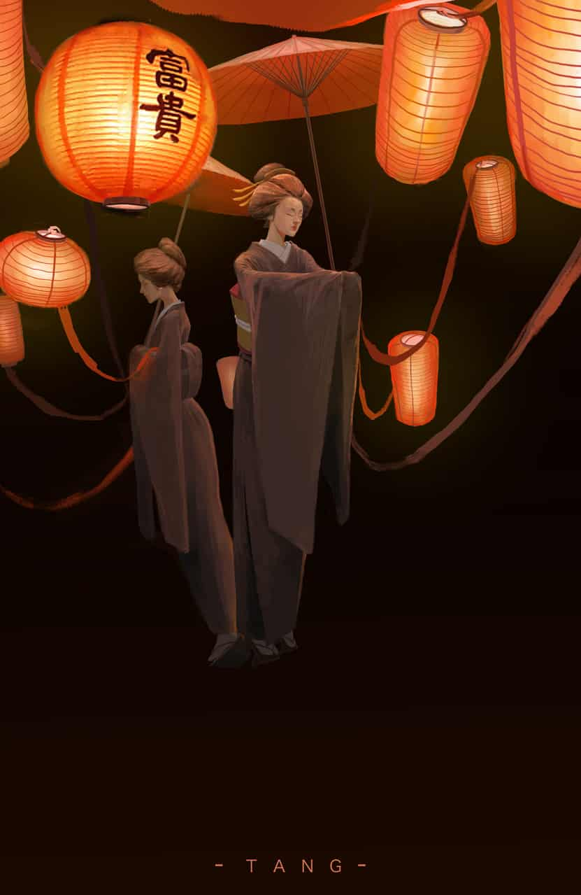 灯笼 Illust of 唐小先生 kimono 插画,原创