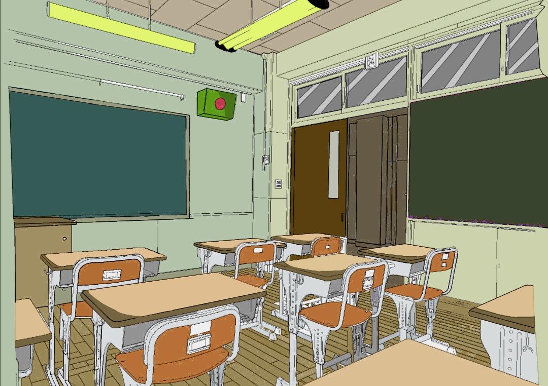 Anime classroom  Illust of Patacius Background_Image_Contest BackgroundImageContest_Coloring_Division