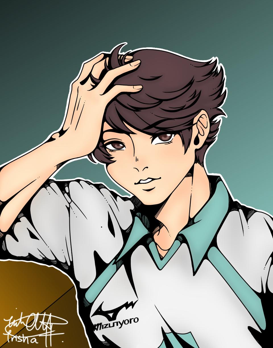 Oikawa Tooru Illust of Ishtar🍉 anime fanart TōruOikawa Haikyu!! AobaJohsaiHighSchool