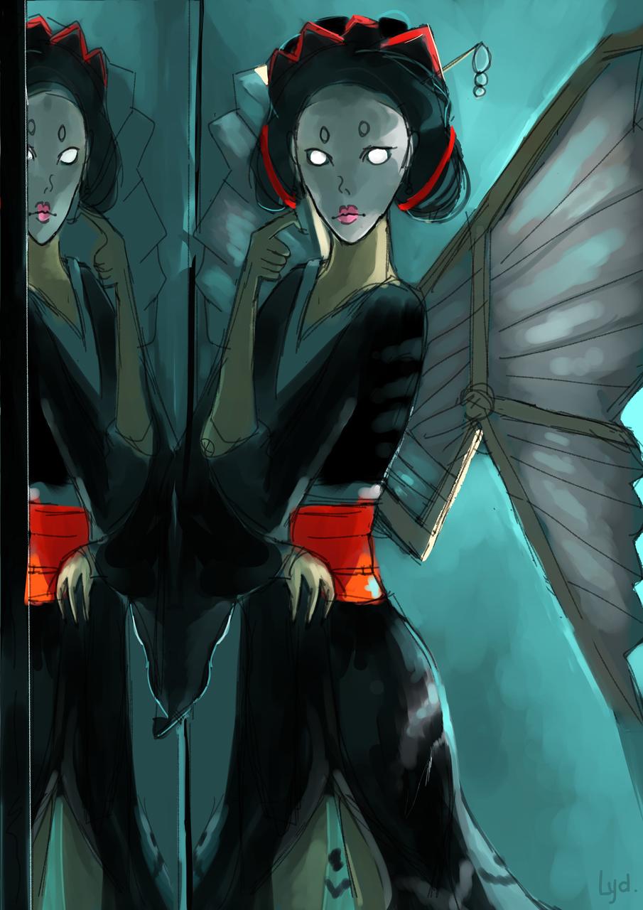 Washi Geisha Illust of Lydiayn medibangpaint ML