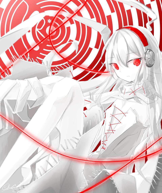 DORO*C Illust of Celia_しりあ Arcaea girl blackandwhite