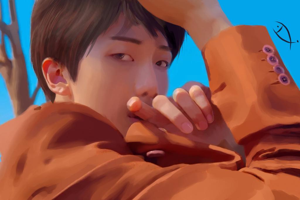 金南俊 Illust of 小黄鱼 medibangpaint 金南俊 rapmonster BTS RM