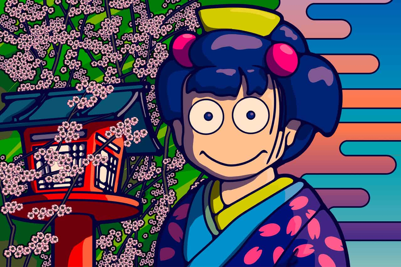 Kibune Yamazakura Illust of Futureman Kyoto_Award2020_illustration kyoto futureman Yozakura Kibune