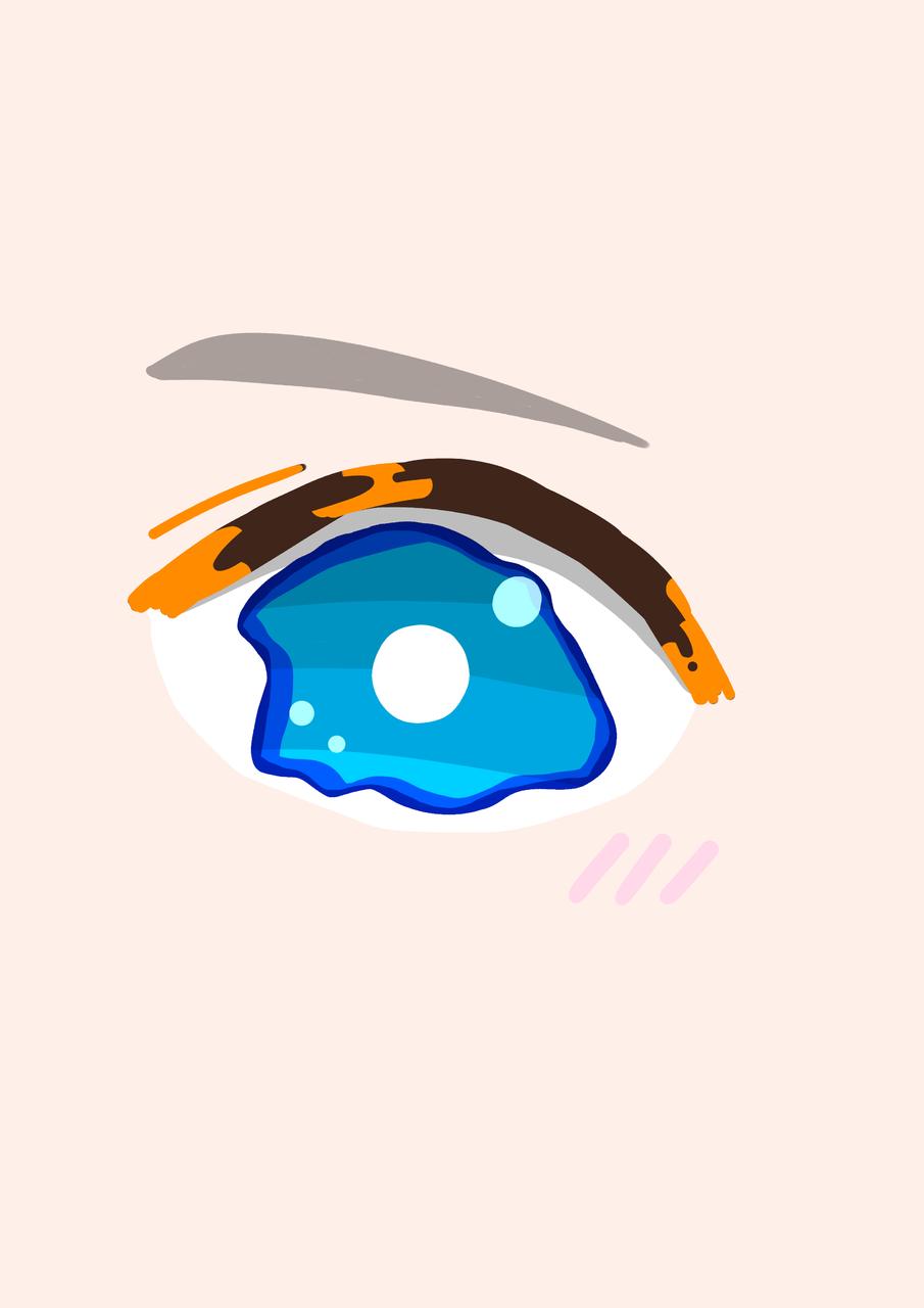 今日の投稿数多いな.... Illust of はな。 medibangpaint eyes blue