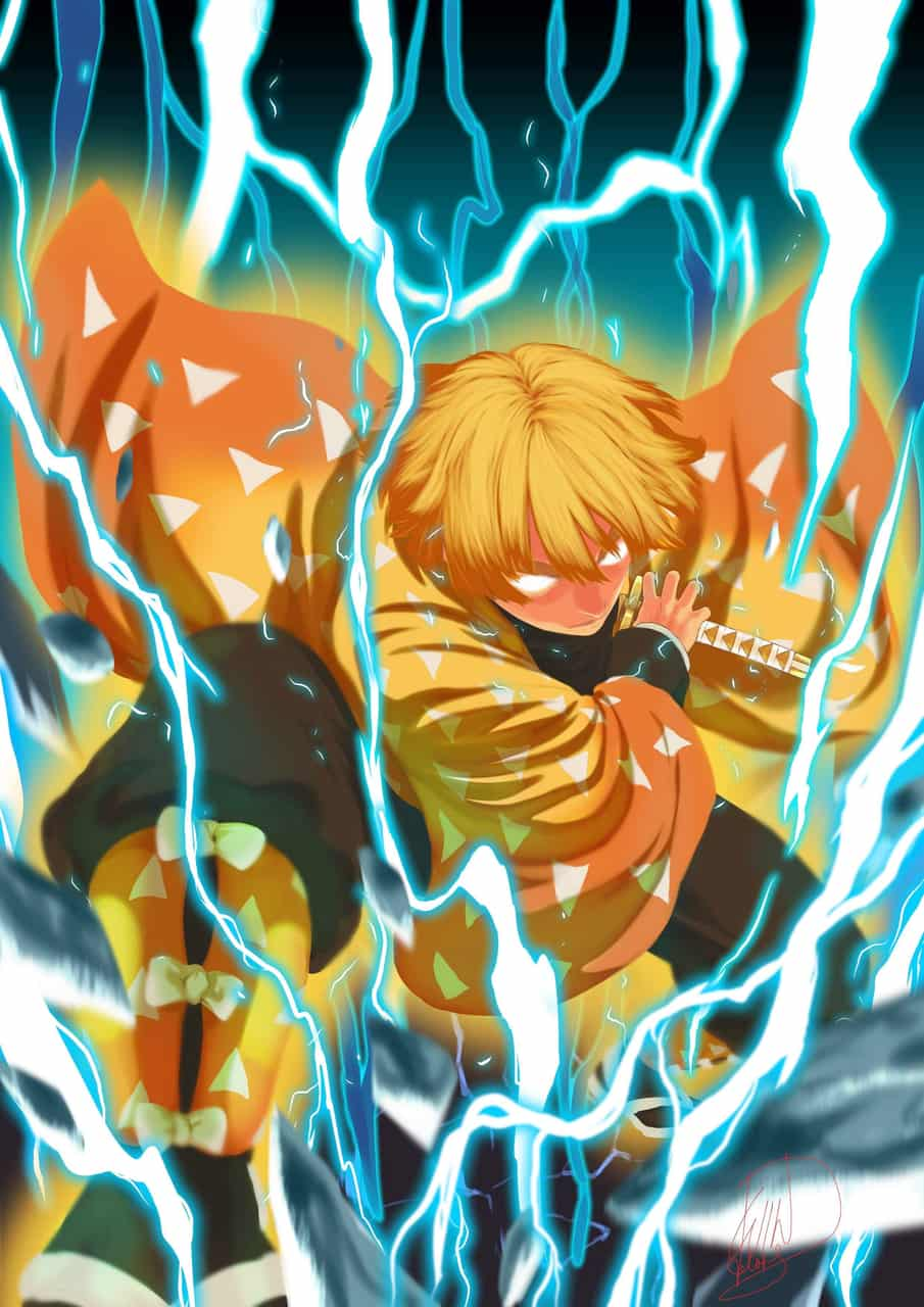 Zenitsu Agatsuma Illust of winabaliw28 DemonSlayerFanartContest manga fanart KimetsunoYaiba anime AgatsumaZenitsu