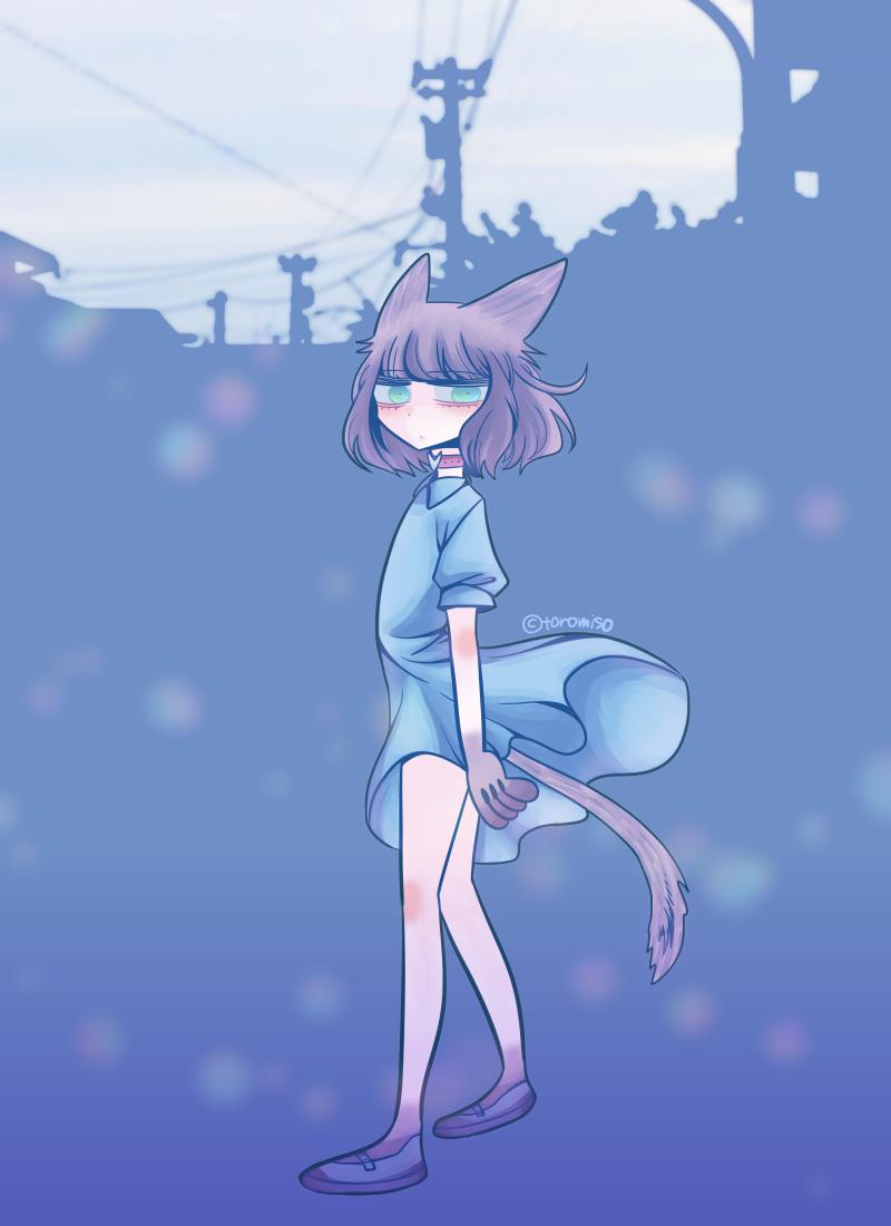 55 Illust of toromiso Post_Multiple_Images_Contest cat_ears cat オリジナル漫画キャラクター original girl 猫耳娘 oc