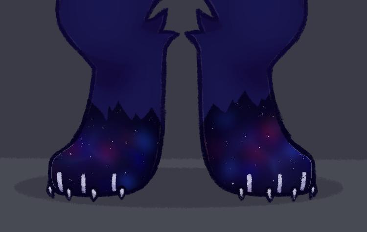 feet Illust of dushk furry medibangpaint oc
