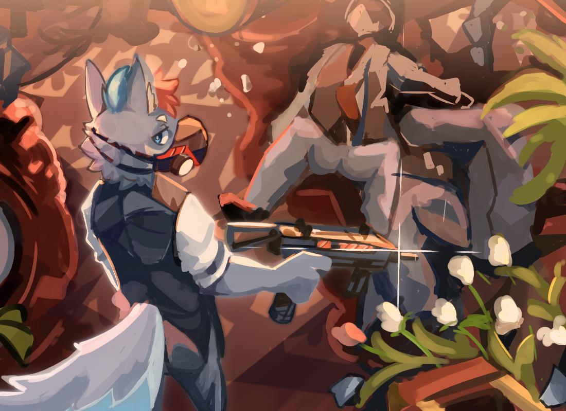 wj/6cj84 Illust of 肯尼吉 furry wolf 獸人 background