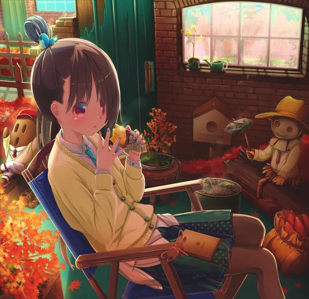 インドア紅葉 Illust of あいうあぼ Sep.2019Contest 焼き芋 紅葉 autumn original