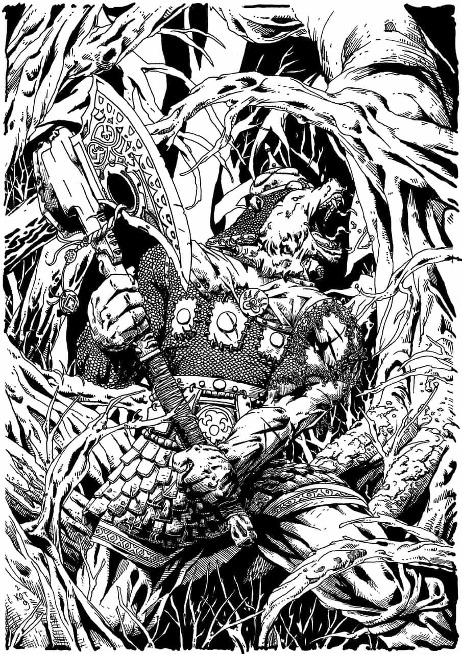 bear forest dark  Illust of PUFIK