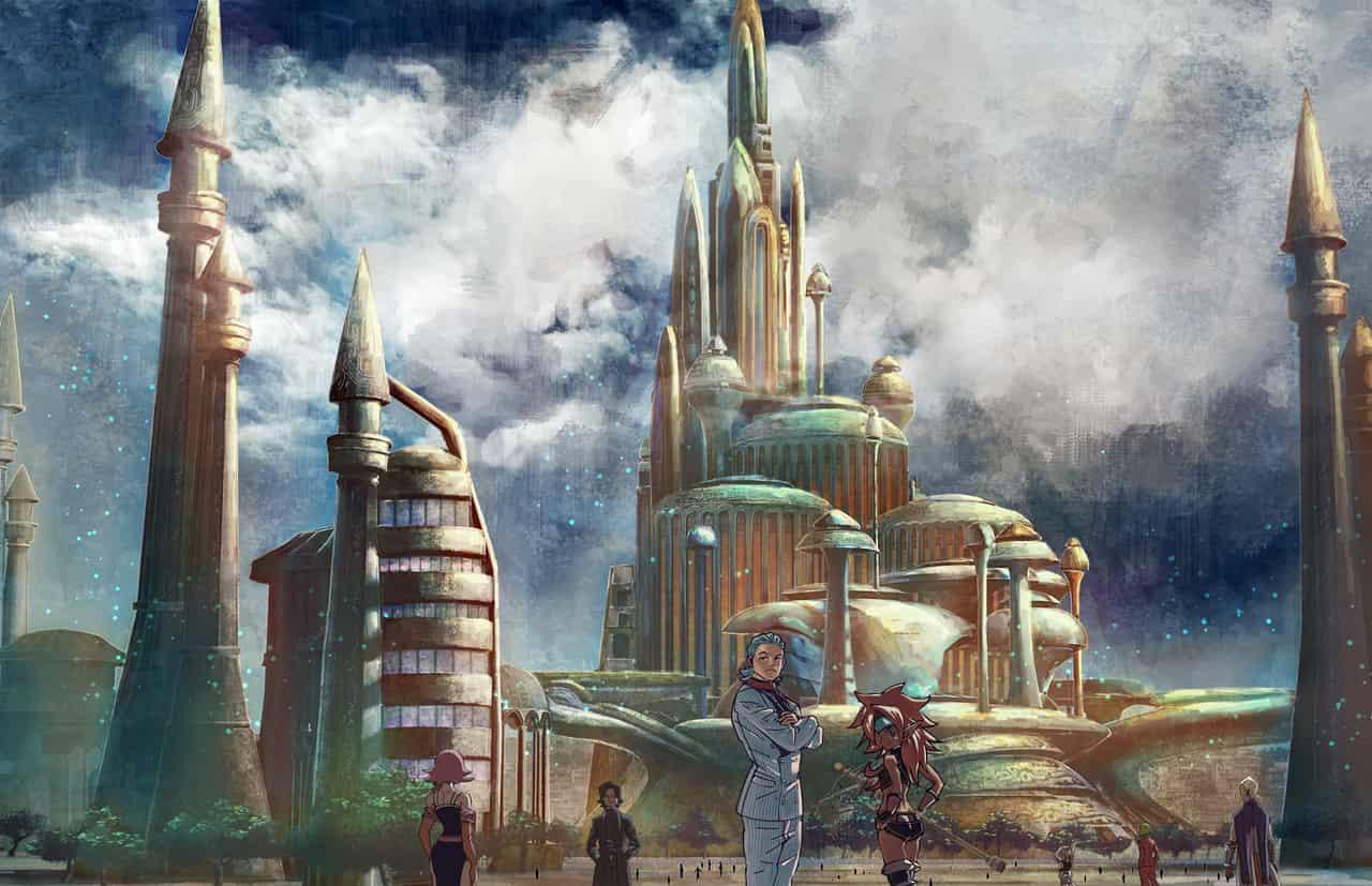 B-S13 Illust of Just fantasy scenery 建物