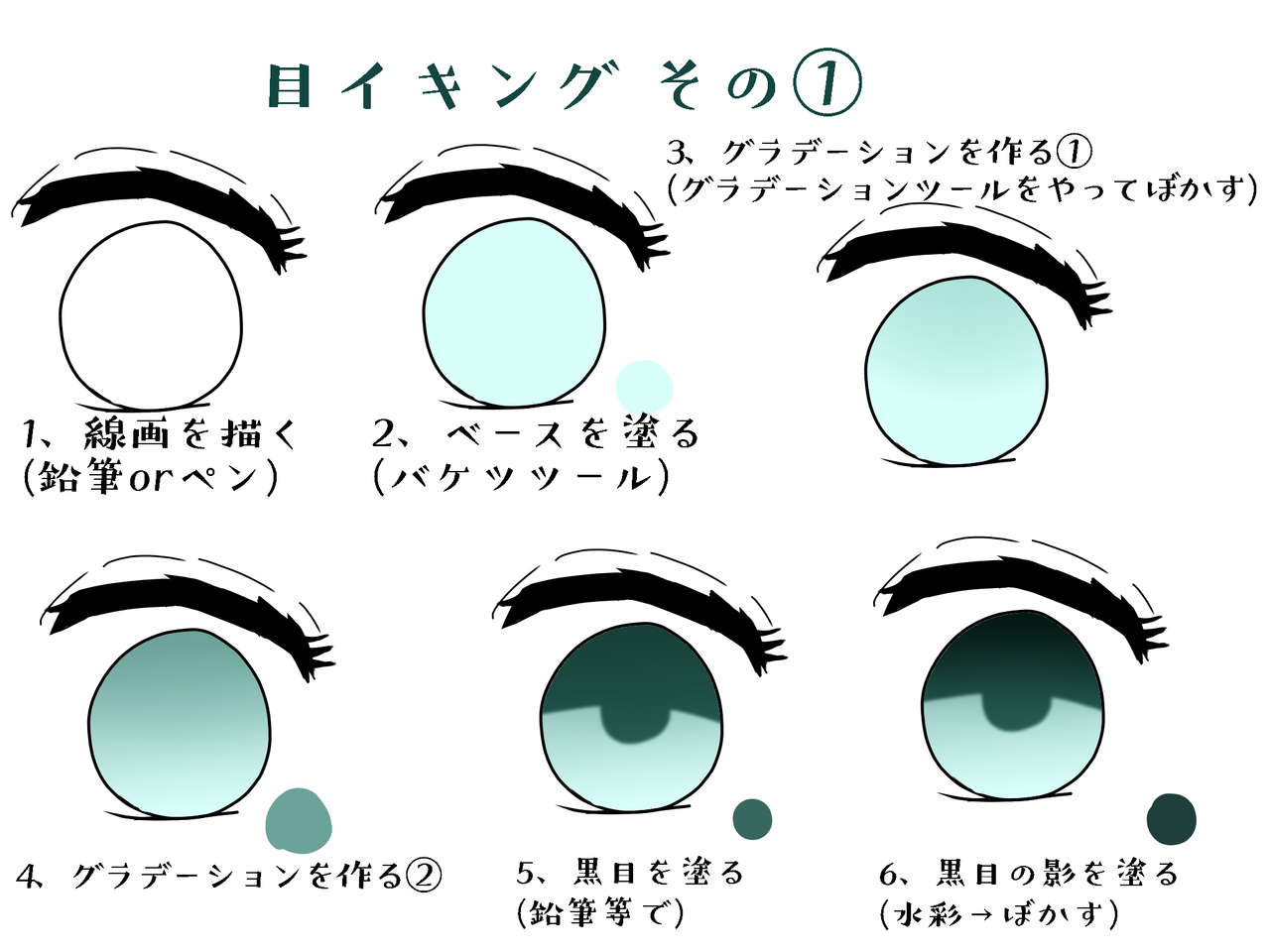 目イキング!! Illust of きよちゃん@今やってない The_Challengers 目イキング green メイキング eyes tutorial