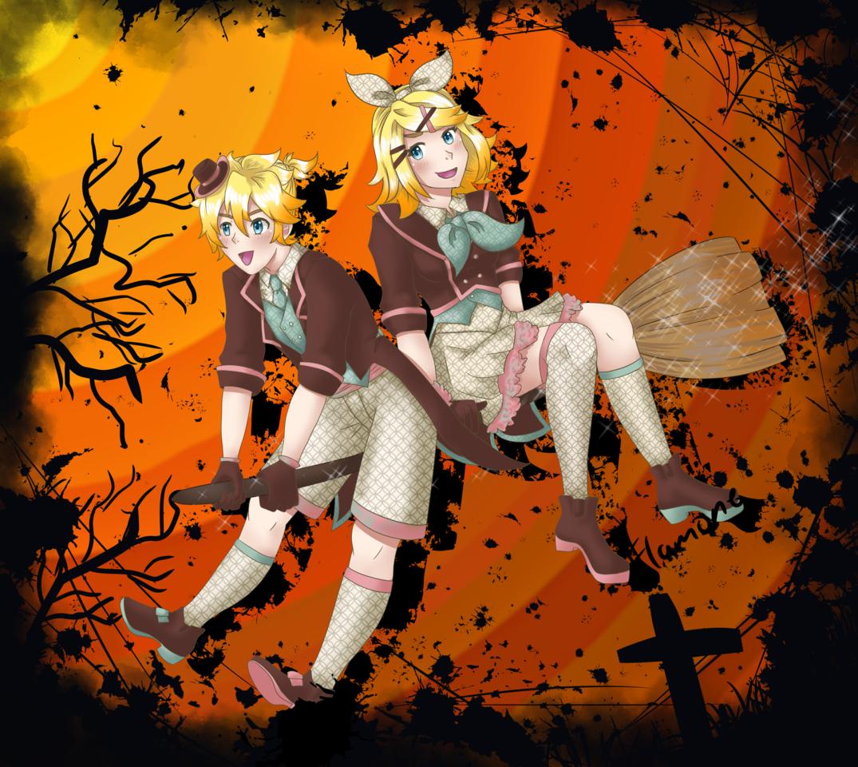 halloween rin and len