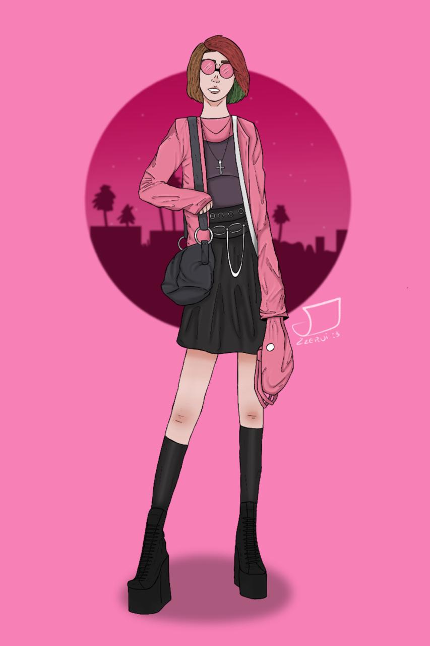 Recuerdan a la tipa que no le gusta el anime?  Illust of Zzervi :3 Pink_girl :3 Zzervi