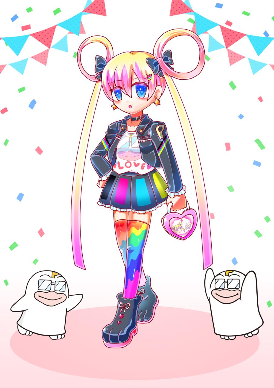 PICOQ Girlfriend Illust of 雨月聖夜 PICO公式キャラクターPICOQガールフレンド大募集!!コンテスト