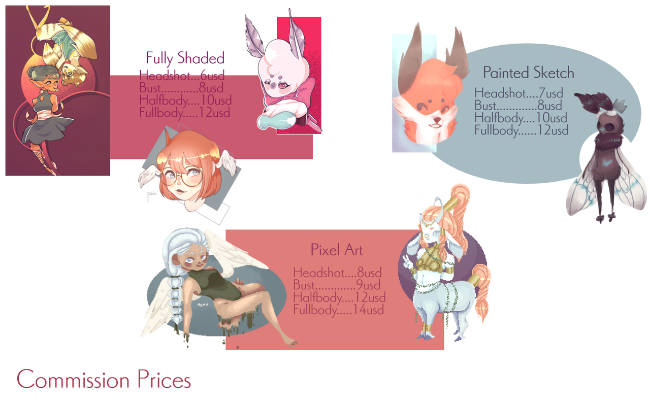 Commission Prices Beausunshine Illustrations Art