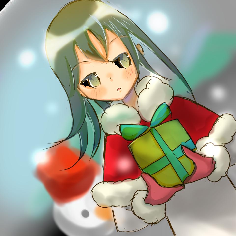 女の子とプレゼント