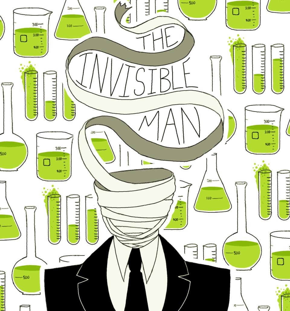 The Invisible Man Illust of CaputMortuum horror invisibleman monster