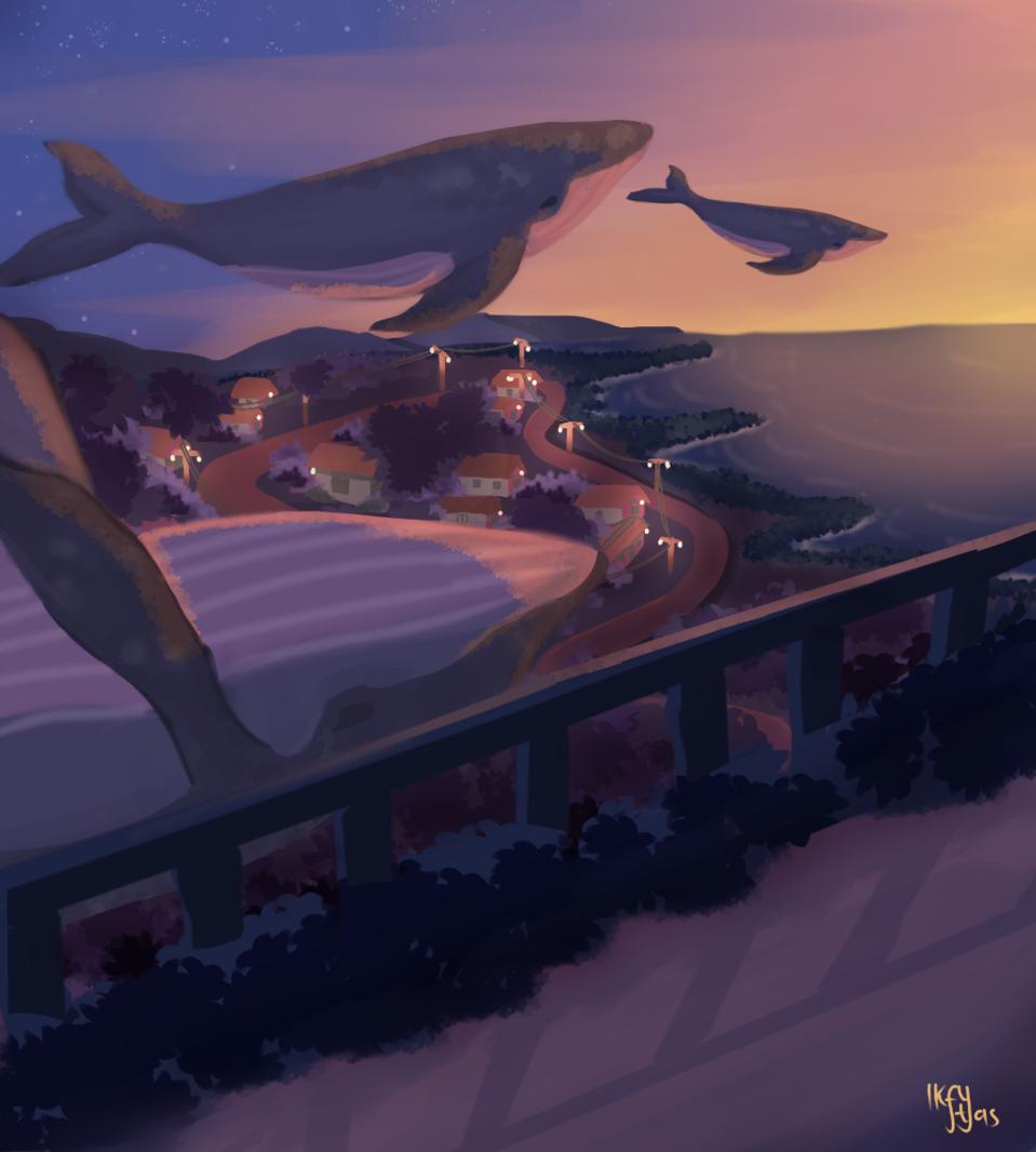 paus terbang Illust of IkftYas digitalillustration illustration digitalpainting
