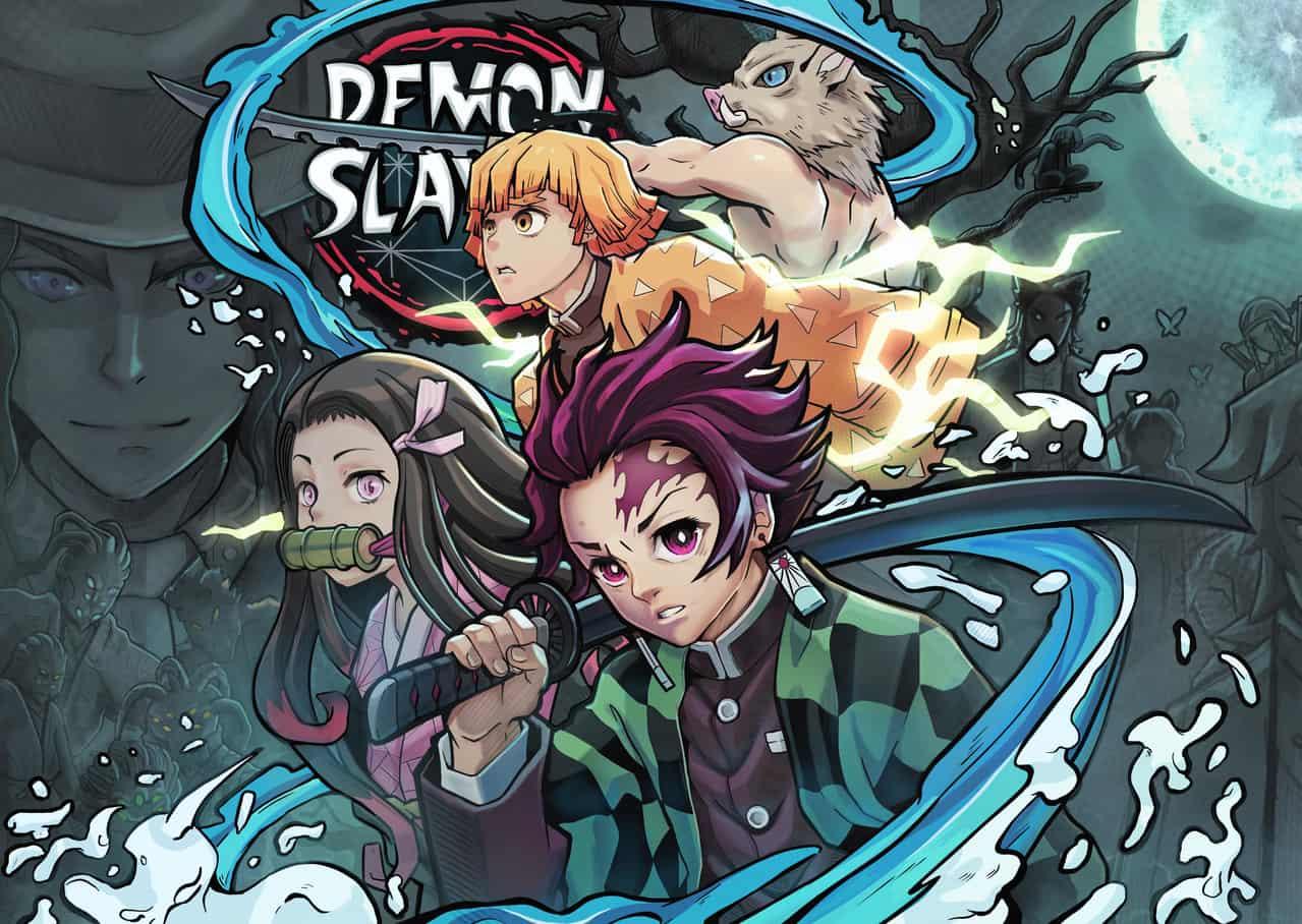 DemonSlayers : A Tale of the Ages Illust of TaNyaKu DemonSlayerFanartContest vampire TanjiroKamado. kimono HashibiraInosuke KamadoNezuko KimetsunoYaiba TaNyaKu AfroTokyo AgatsumaZenitsu