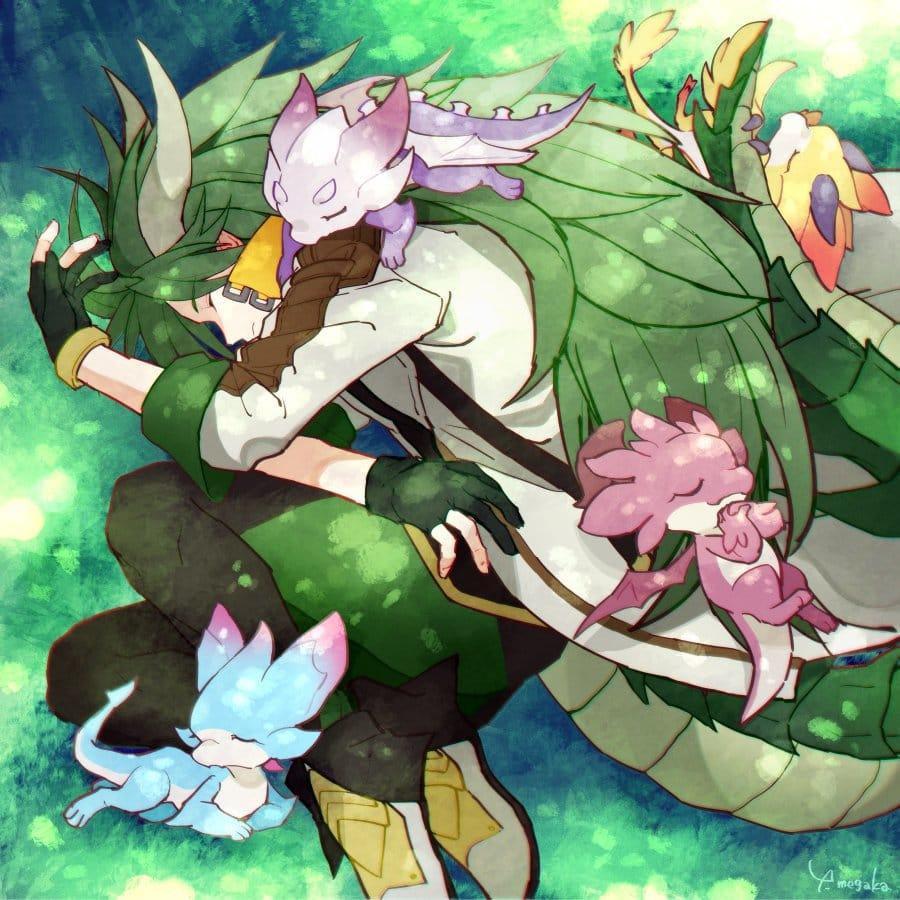 A garden of peace. Illust of 芽ヶ可ゆい fanart DragaliaLost