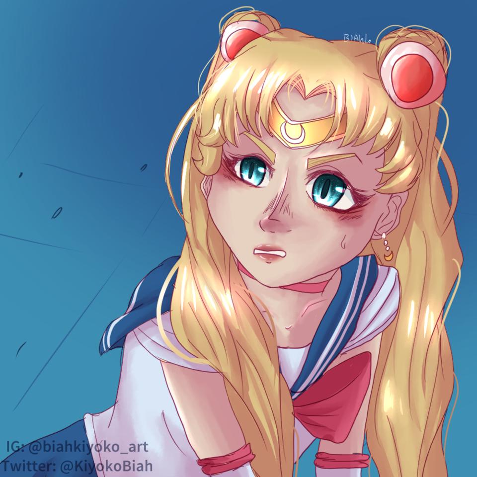 Sailor Moon Screencap Redraw Illust of BiahKiyoko sailor_uniform animegirl sailormoonredraw speedpaint magicalgirl screenshotredraw