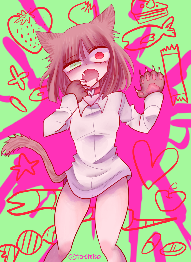 38 Illust of toromiso ARTstreet_Ranking June2020_Contest:Street_Art zombie original girl オリジナル漫画キャラクター oc cat_ears 猫耳娘