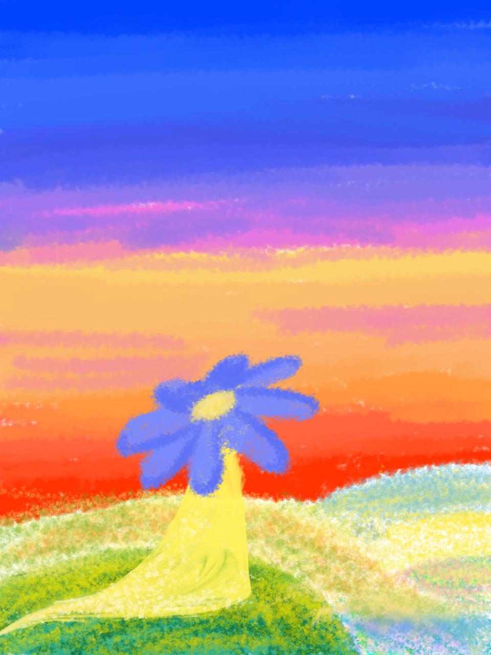 A Flower Sunset Illust of cookie April2021_Flower medibangpaint