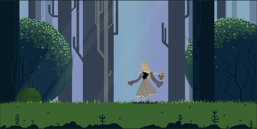 Once Upon a Pixel Forest
