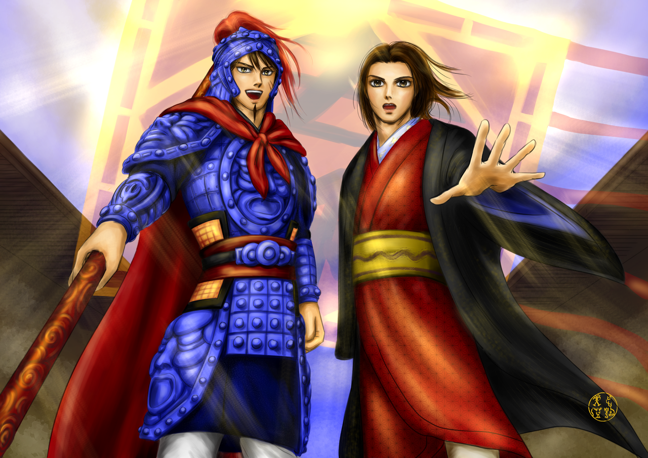 Shin and Sei, Kingdom  Illust of Artemis medibangpaint Kingdom 信政 信 キングダム 政 嬴政