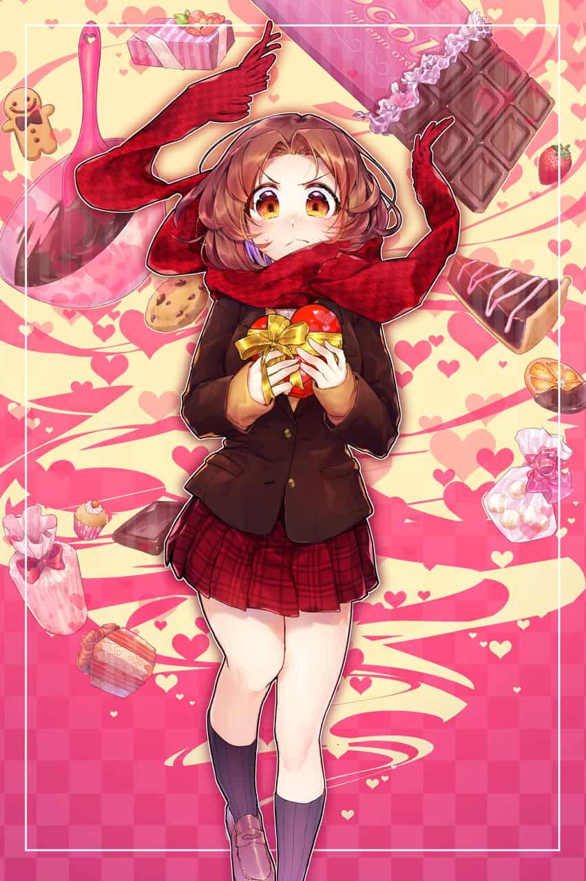 真心をこめた恋の形 Illust of きの太 Feb2020:VDAY マフラー girl おんなのこ チョコレート Valentine
