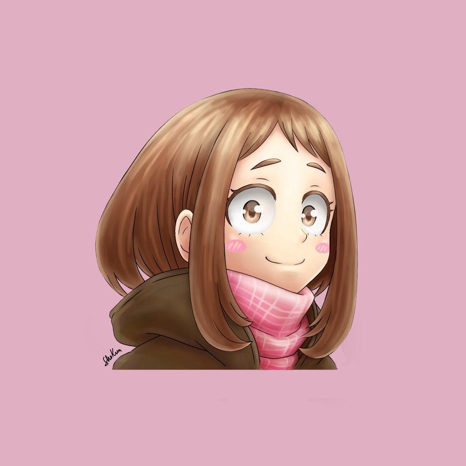 Uraraka Ochako Illust of Sho-kun animegirl girl ochakouraraka uraraka MyHeroAcademia anime ochako urarakaochako
