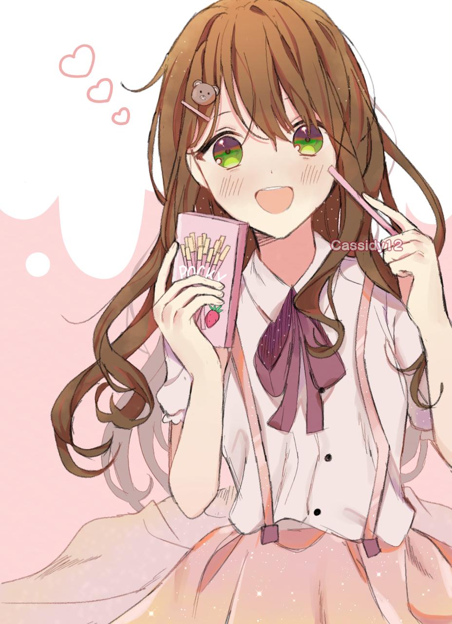 Pocky Illust of Cassidii12 medibangpaint pink girl pockyday digital art illustration animegirl kawaii