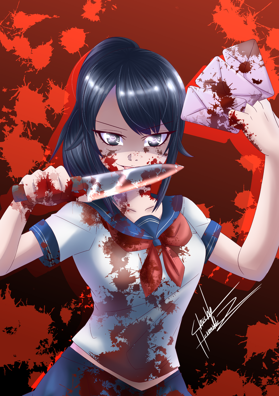 Yandere chan Illust of andreaxtenshi YandereSimulatorFanArtContest