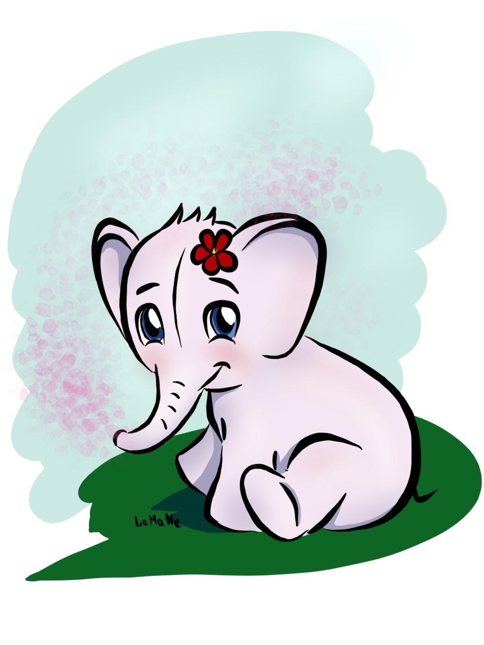 Elephant Illust of Lema-lisa medibangpaint Sweet elephant