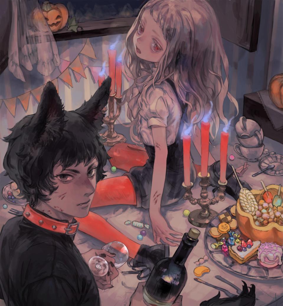Halloween2019 Illust of 倉敷藤花 Oct.2019Contest Halloween