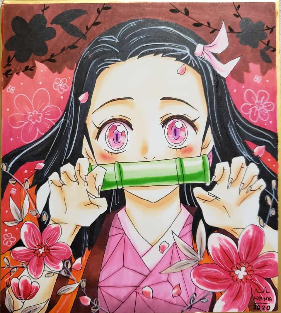 ガォ~禰豆子 Illust of にゃーこ DemonSlayerFanartContest KimetsunoYaiba 鬼滅の刃イラストコンテスト KamadoNezuko
