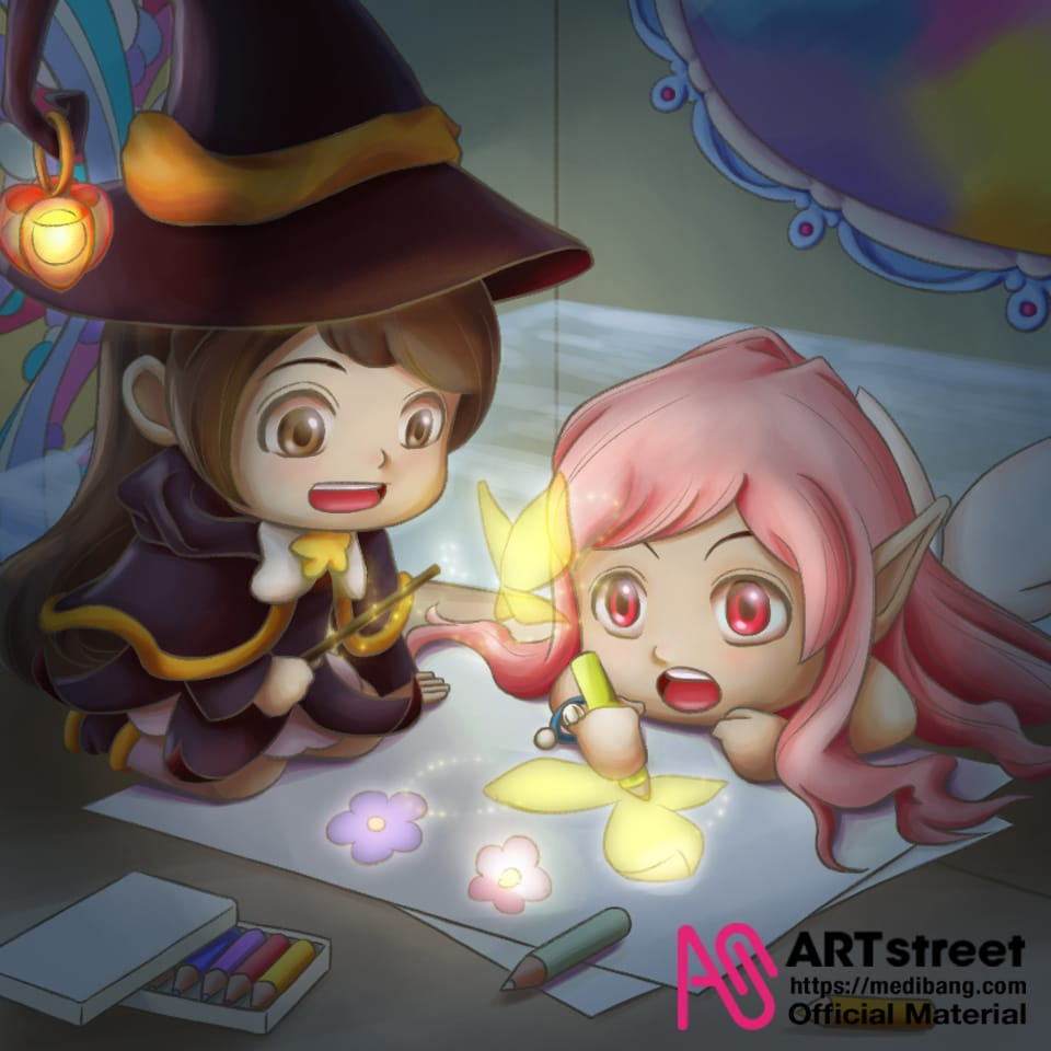 Magic drawing Illust of 猫雨 tracedrawing4th witch Trace&Draw【Official】