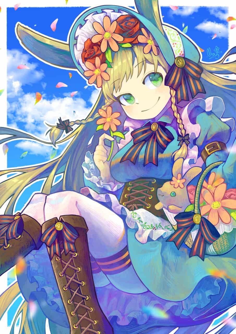 花売りうさぎ Illust of potg original girl ヘッドドレス rabbit