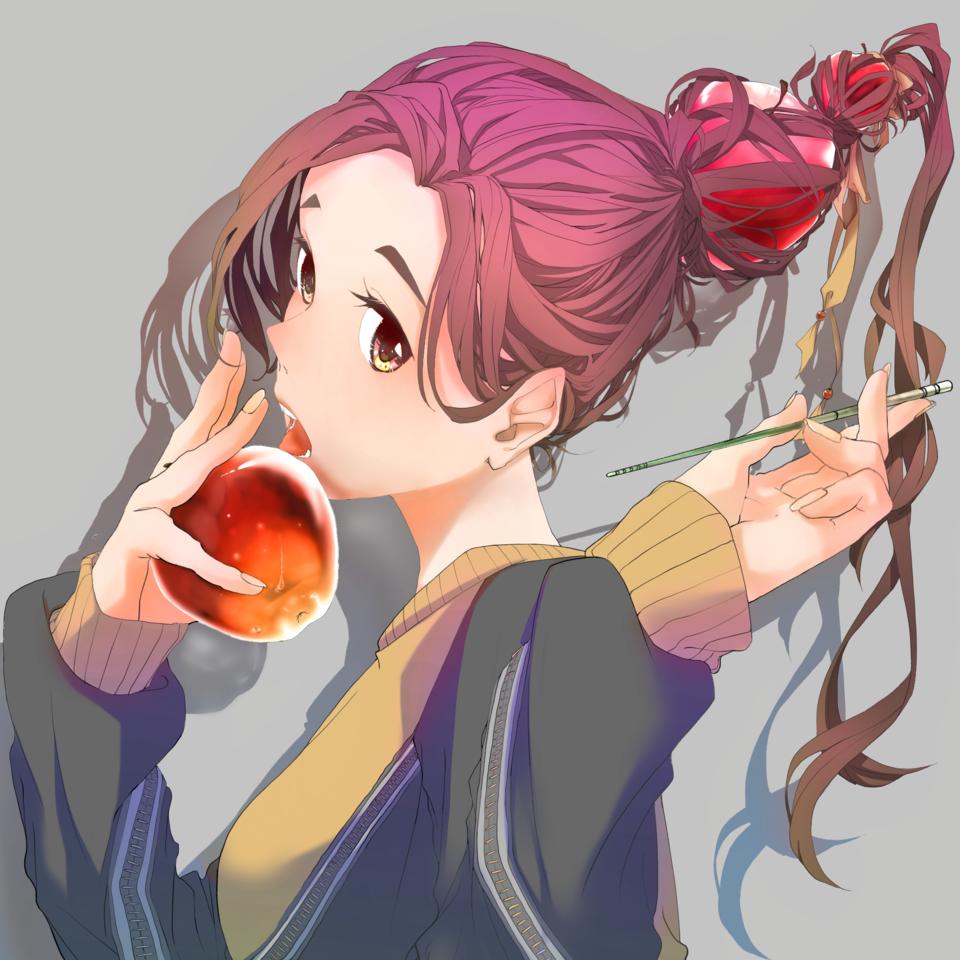 Illust of syu apple girl oc