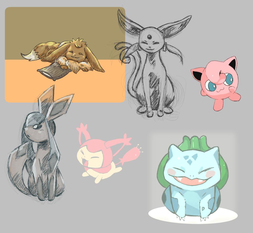 Practice #2 Illust of lrnart97 friend pokemon sketch colorful cute