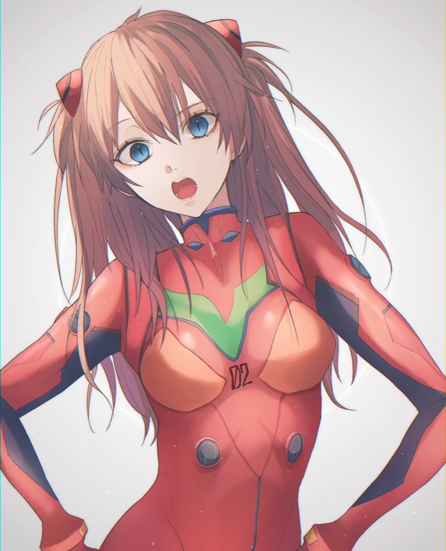 02 Illust of おじぎ 惣流・アスカ・ラングレー アスカ EVANGELION 式波・アスカ・ラングレー medibangpaint プラグスーツ