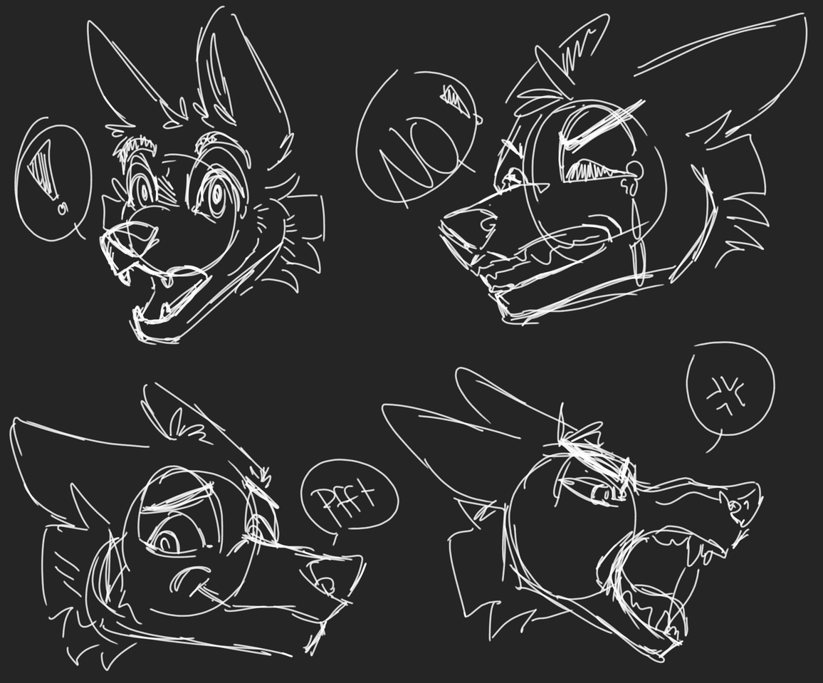 Facial expressionzzzzzzz Illust of Squeaky Plastic medibangpaint furry oc