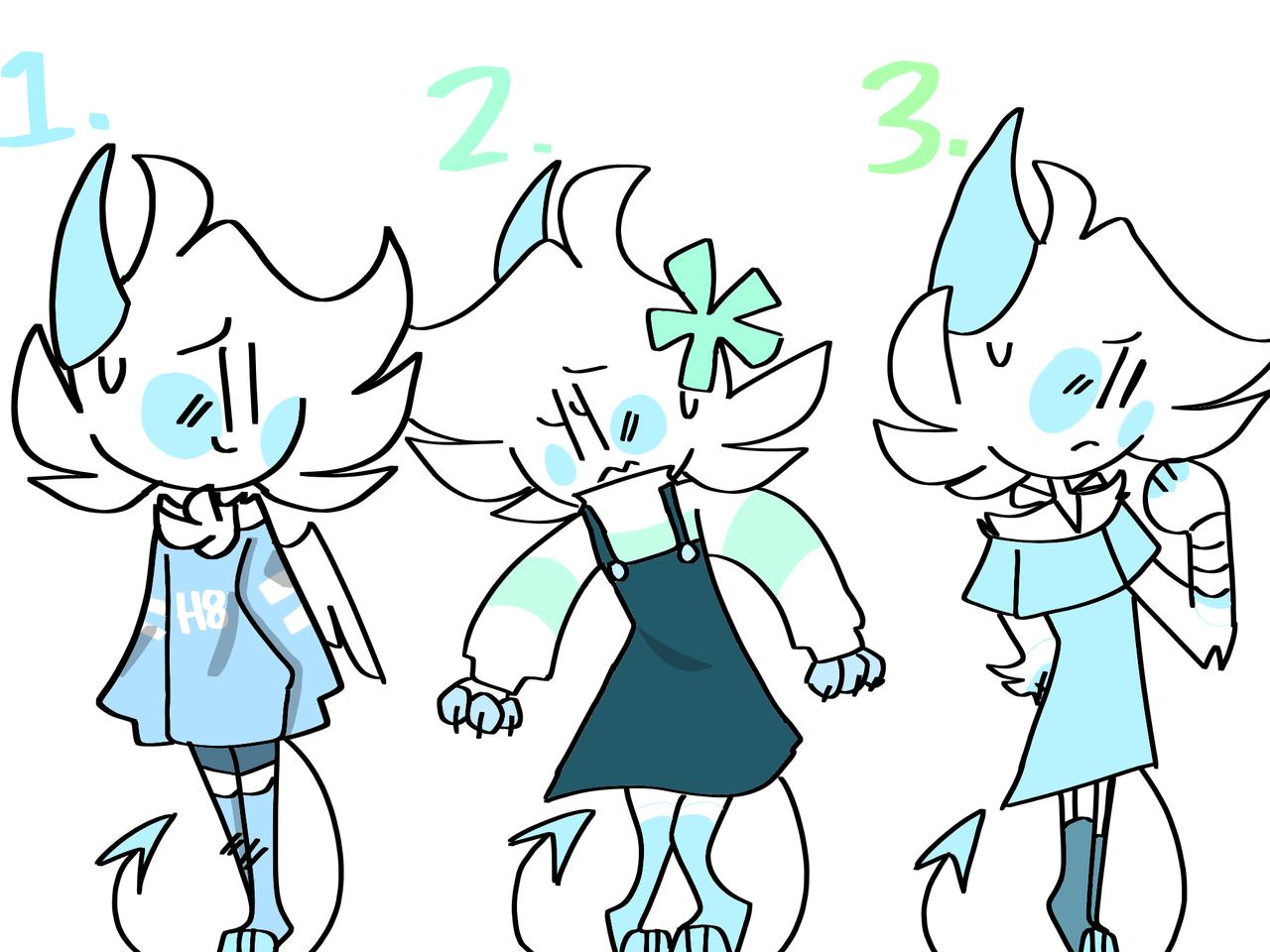 Pick one i want to change outfits xddd Illust of kiielmao medibangpaint