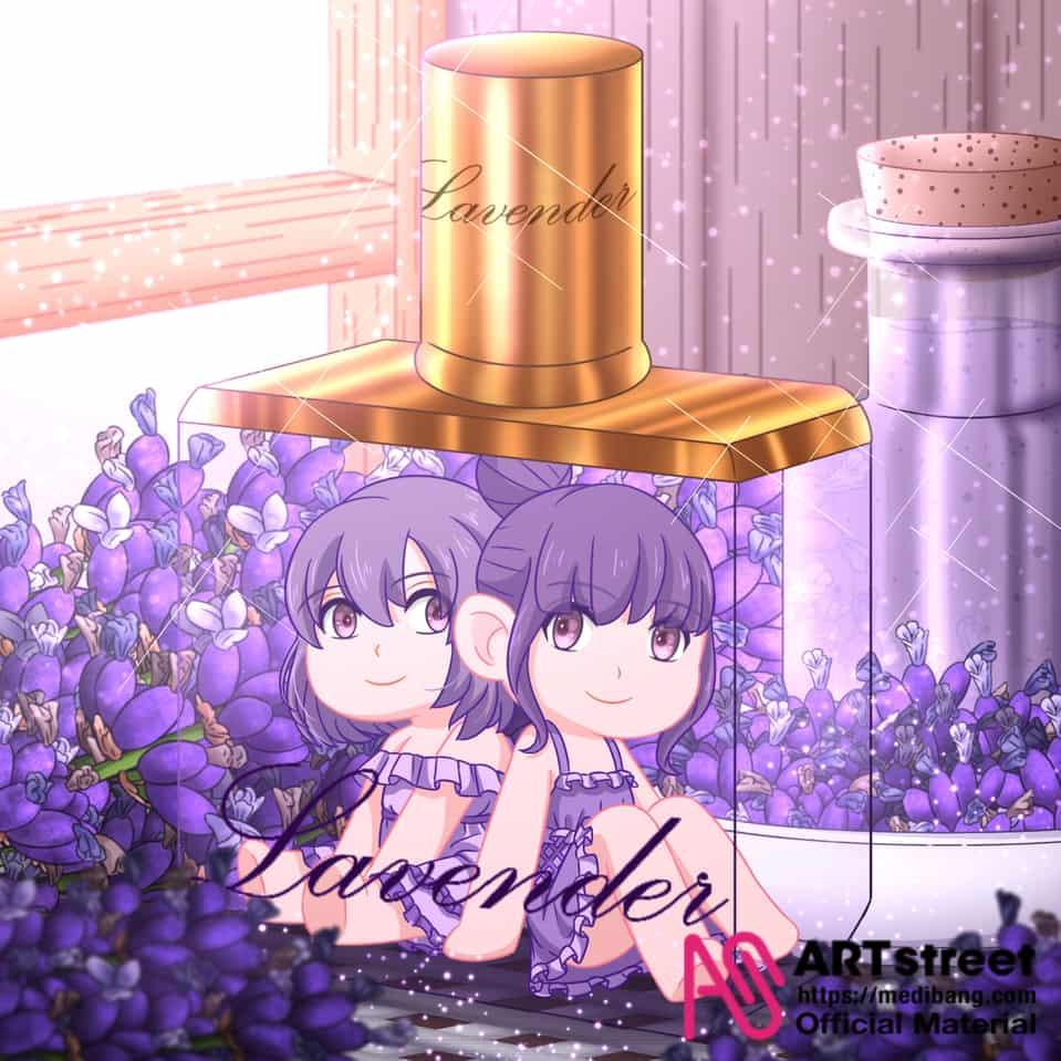 lavender perfume Illust of 金猩 tracedrawing4th tracedrawing2 iPad_raffle original Personification 香水 medibangpaint girl 薰衣草 purple