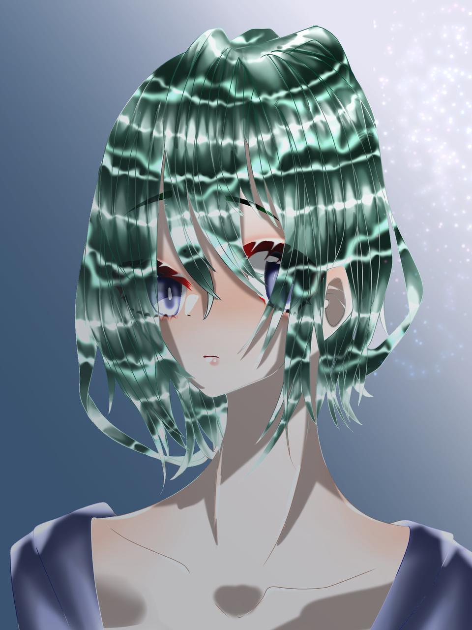 病みみみみみみ Illust of 如月来蕾 medibangpaint ニート green boy 病み 長T oc