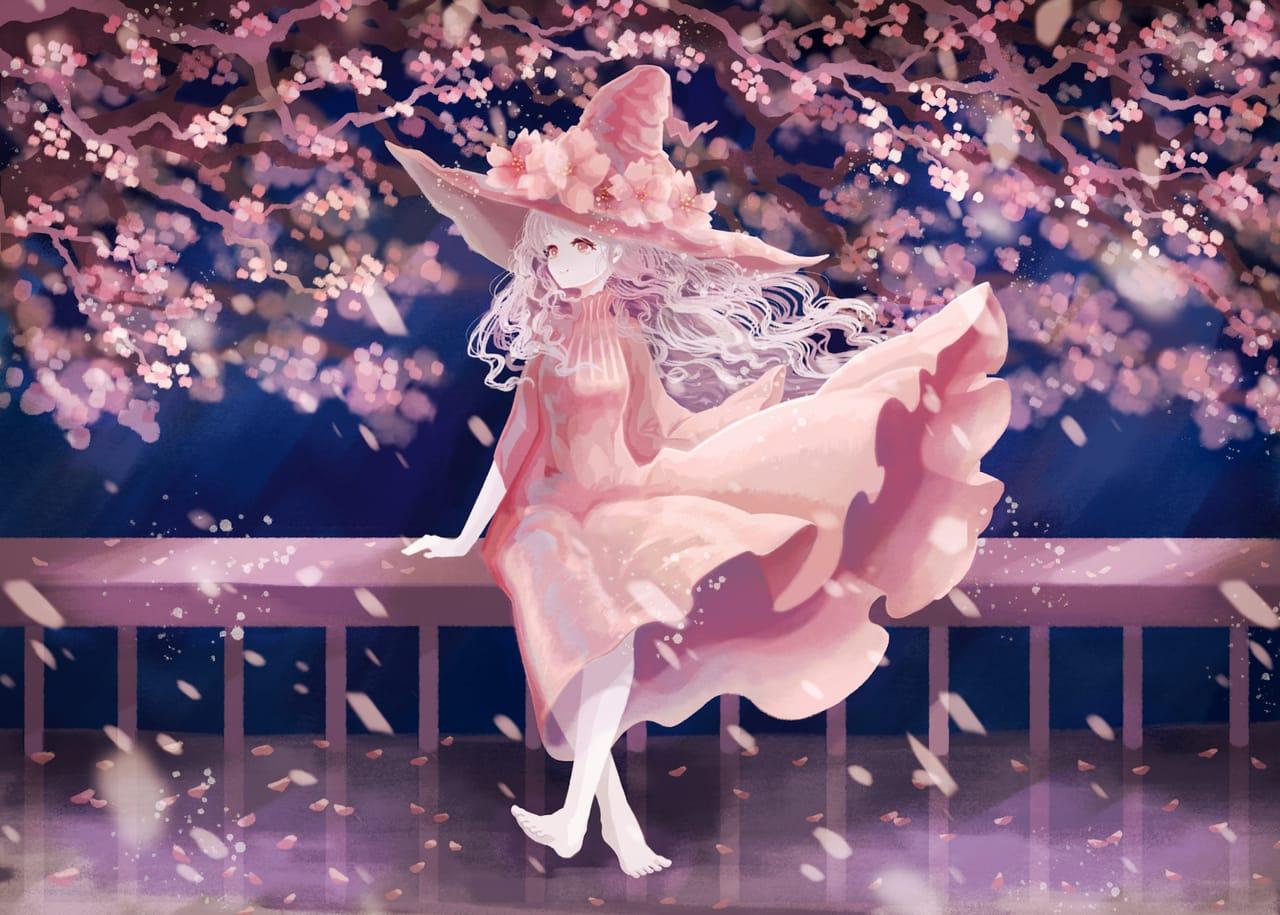 桜の魔女 Illust of 伊砂祐李 (Yuri Isa) sakura witch original girl white_hair